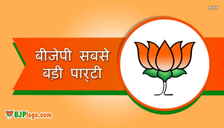 बीजेपी सबसे बड़ी पार्टी ( BJP Biggest Party)