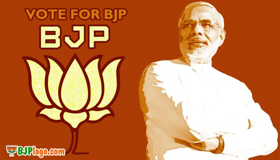 Bharatiya Janata Party Logo With Narendra Modi