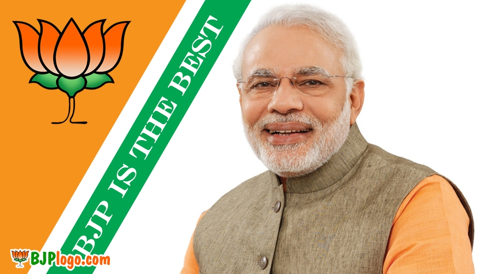 Bharatiya Janata Party Logo With Modi