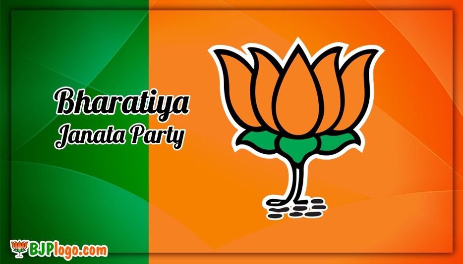 Bjp Green Orange Background Design - Bjp Logo Vote for BJP