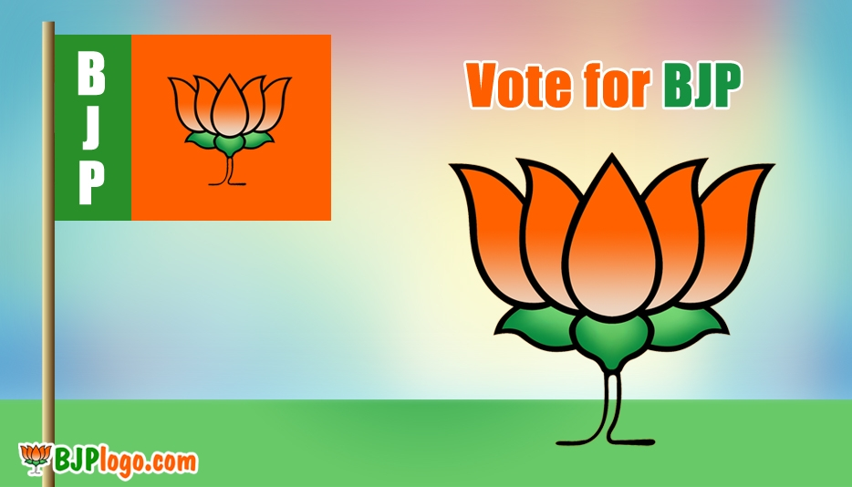 BJP Logo and Flags - Bjp Logo Vote for BJP