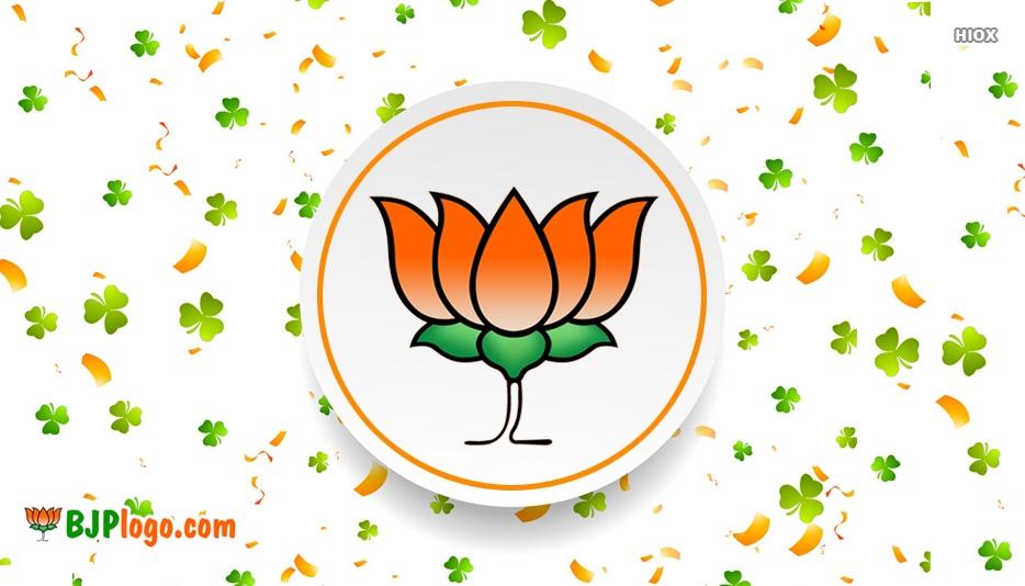 BJP Flowers Logo Symbol Images