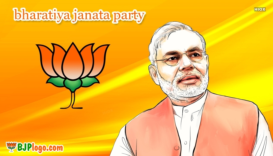 Bjp Logo With Modi