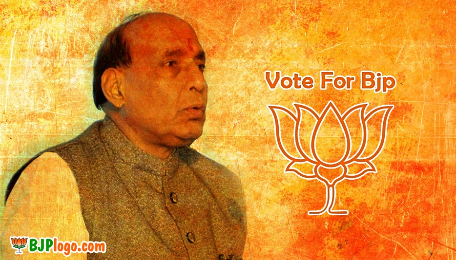 BJP Logo with Rajnath Singh @ Bjplogo.com
