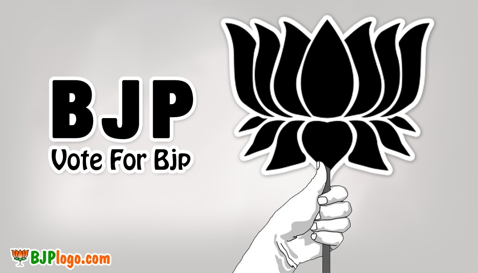 BJP New Logo Black and White @ Bjplogo.com