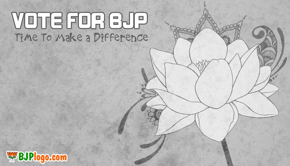 Bjp Symbol Black and White @ Bjplogo.com