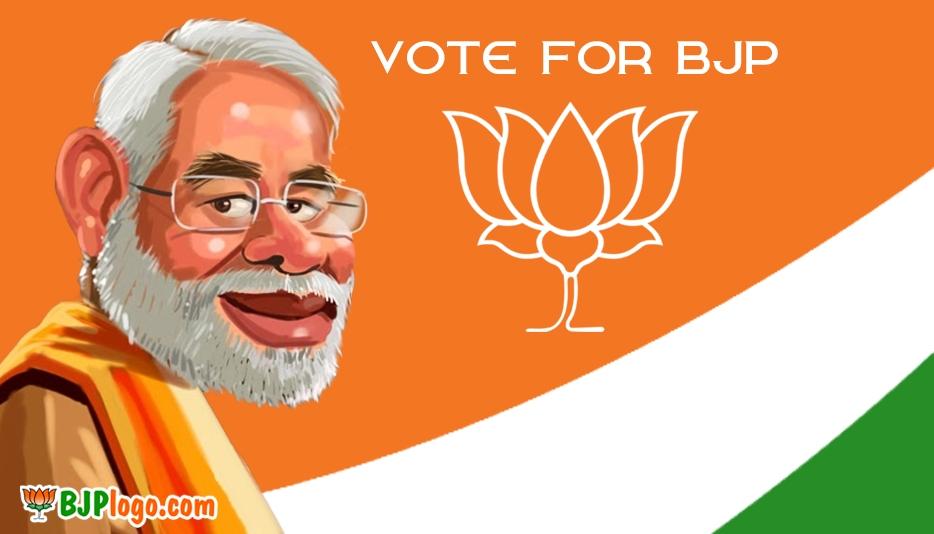Narendra Modi with BJP Logo Download