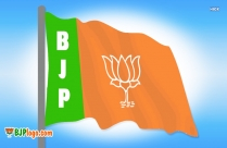 bjp logo flags banner