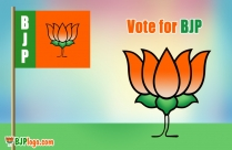 BJP Logo And Flags
