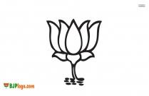 BJP Logo White