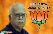 Bjp Logo With Advani