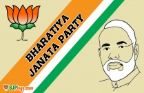 Narendra Modi With BJP Logo Download