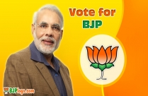 BJP Symbol With Narendra Modi